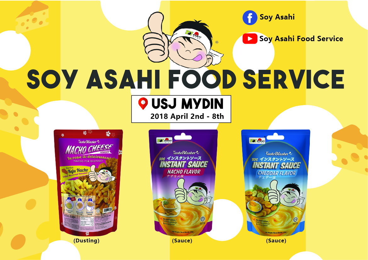 Launching of Nacho Cheese Powder @ Mydin MITC USJ (2nd April – 8th April 2018)