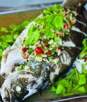 Thai-style steamed fish copy